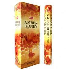 Hem Amber Honey Incense - 20 Sticks
