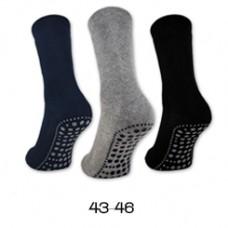 Anti Slip Sokken Unisex 3 Paar Zwart, Grijs, Blauw Maat 43-46