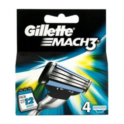 Gillette Mach3 Shaving Blades 4 Cartridges
