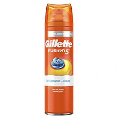 Gillette Fusion Ultra Sensitive + Cooling Scheergel 200 ML